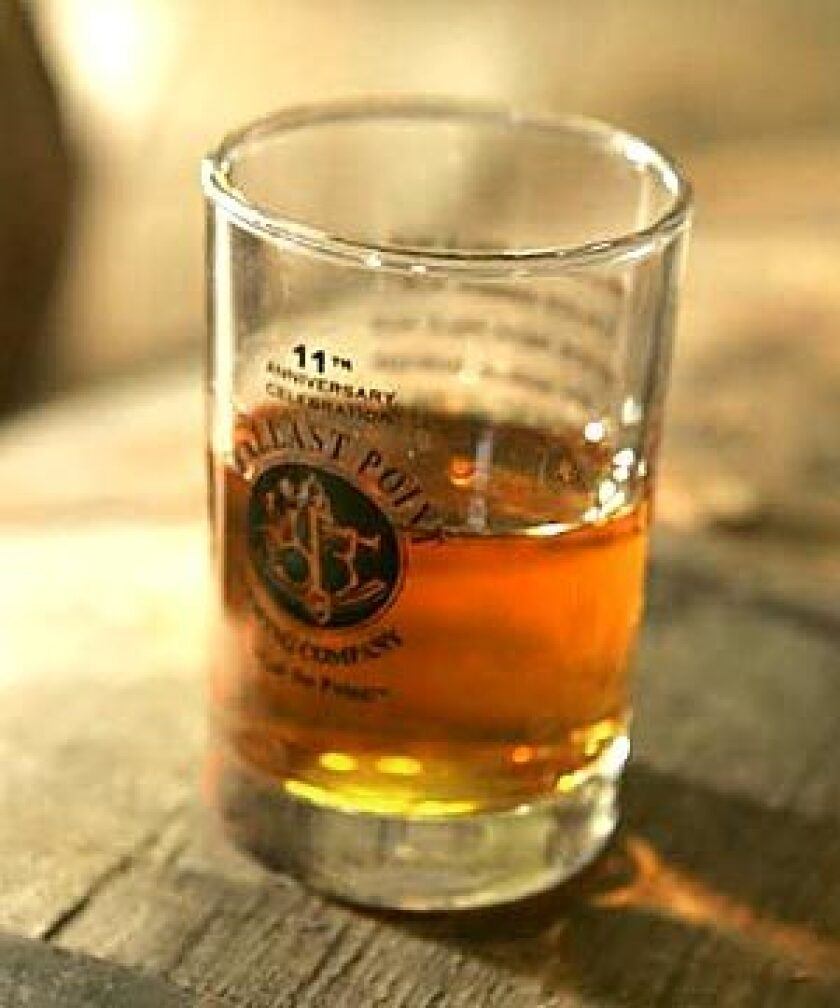EXPERIMENTAL PHASE: Ballast Point uses barley for its whiskey, still a work in progress for the brewing company.