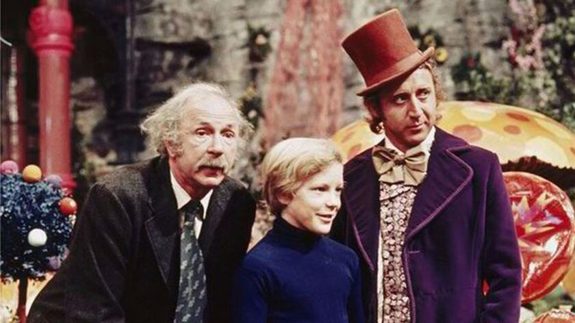 "Jack Albertson, Peter Ostrum and Gene Wilder in ""Willy Wonka & the Chocolate Factory."""