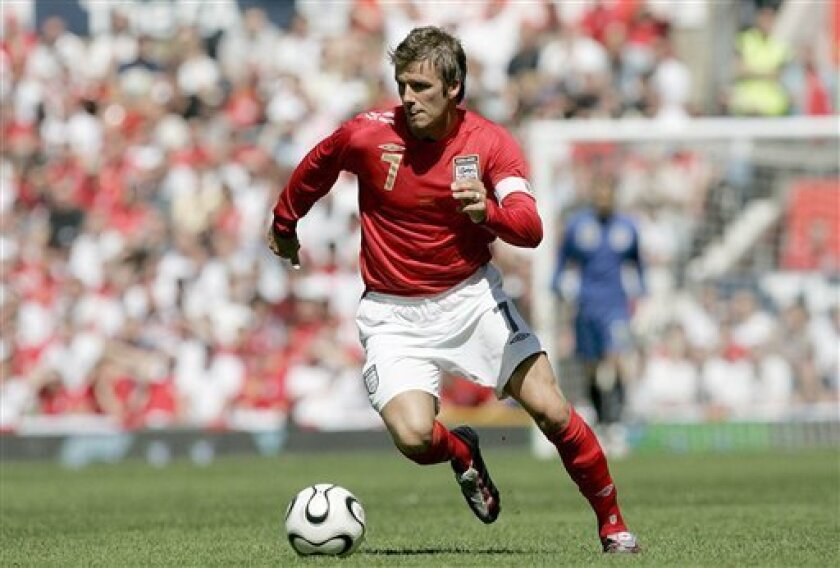 David Beckham in action for England in 2006.