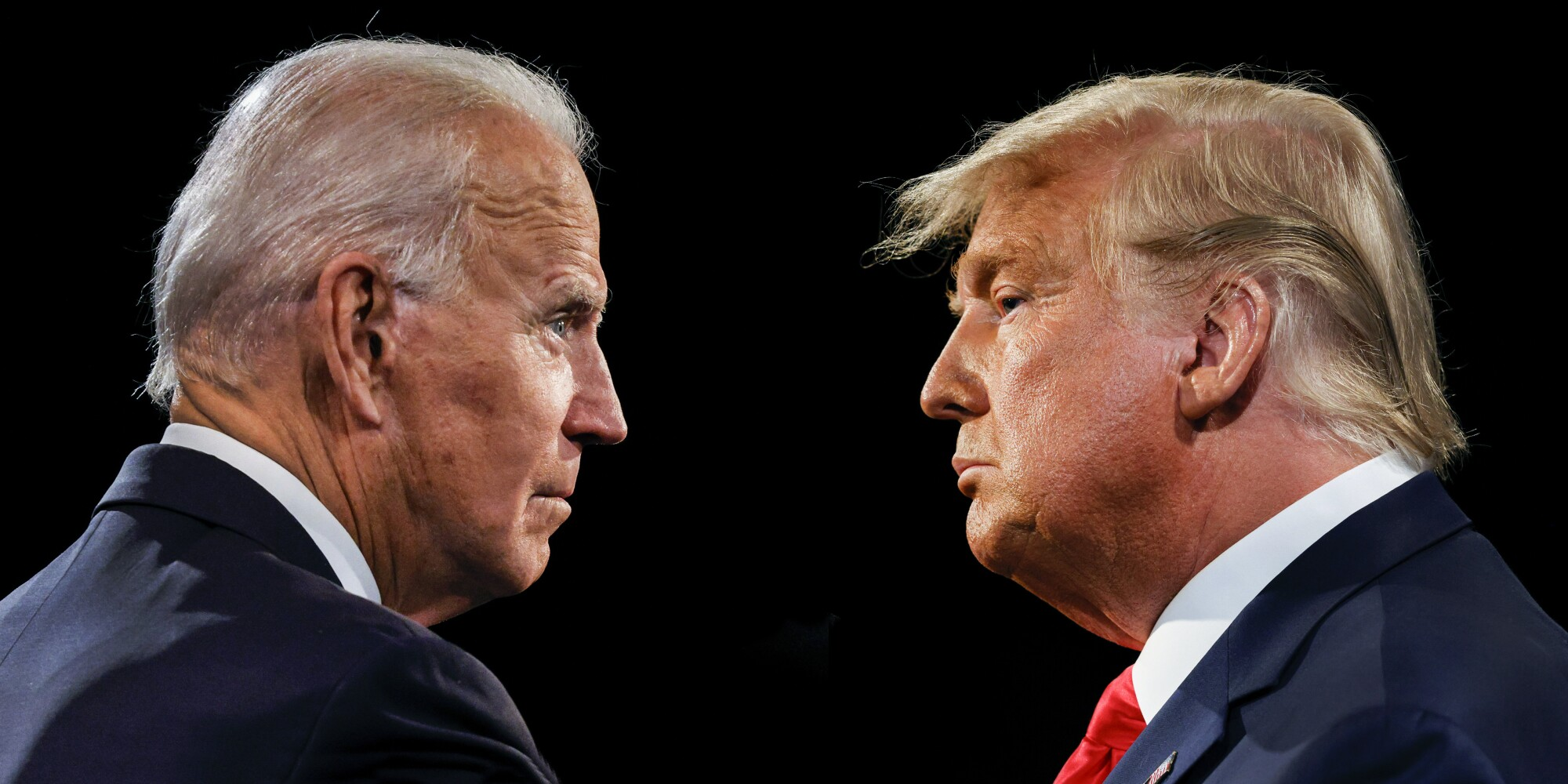 President Trump and Joe Biden