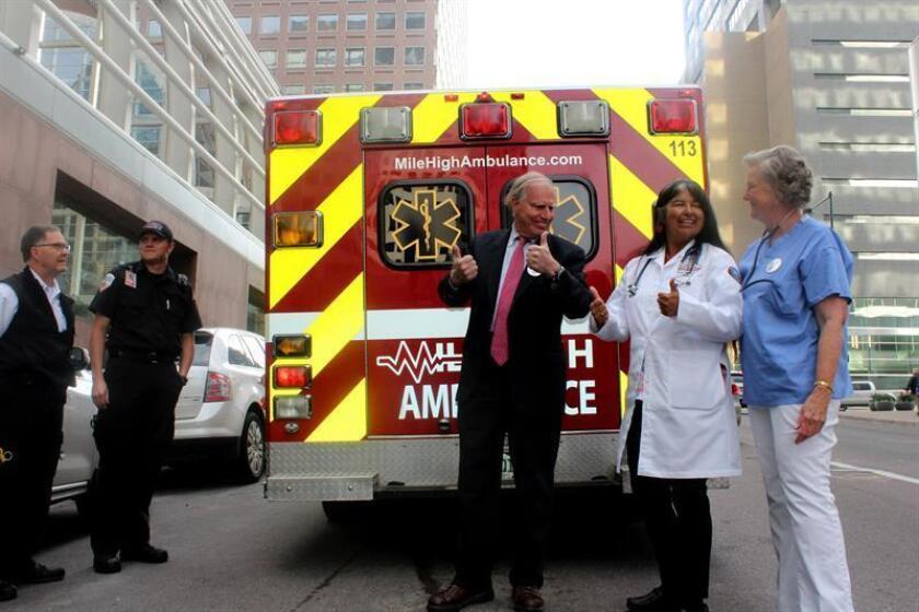 Vista de una ambulancia. EFE/Archivo