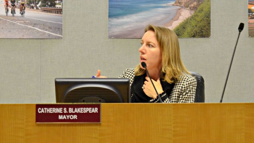 Mayor Catherine Blakespear makes a motion to the city council to implement a task force to discuss the pending Housing Element.