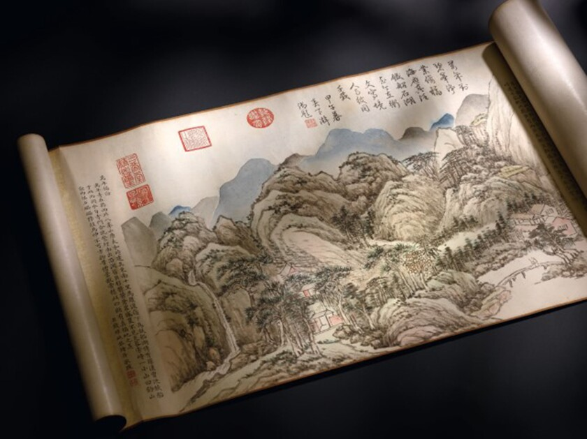 A rediscovered imperial Chinese handscroll brought $18.7 million at Sotheby's Hong Kong this month.