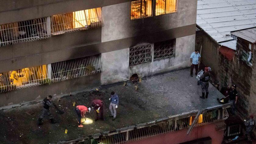 Venezuelan government confirms attack against President Nicolas Maduro, Caracas, Venezuela - 04 Aug 2018