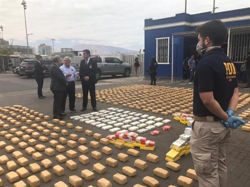 IQUIQUE (CHILE), Nov. 28, 2018: Courtesy image from the Chilean Police (PDI), which said Wednesday that an operation in the northern part of the country resulted in nine arrests and the seizure of 993 kg (2,187 lbs) of cocaine. EPA/EFE/PDI Chile/
