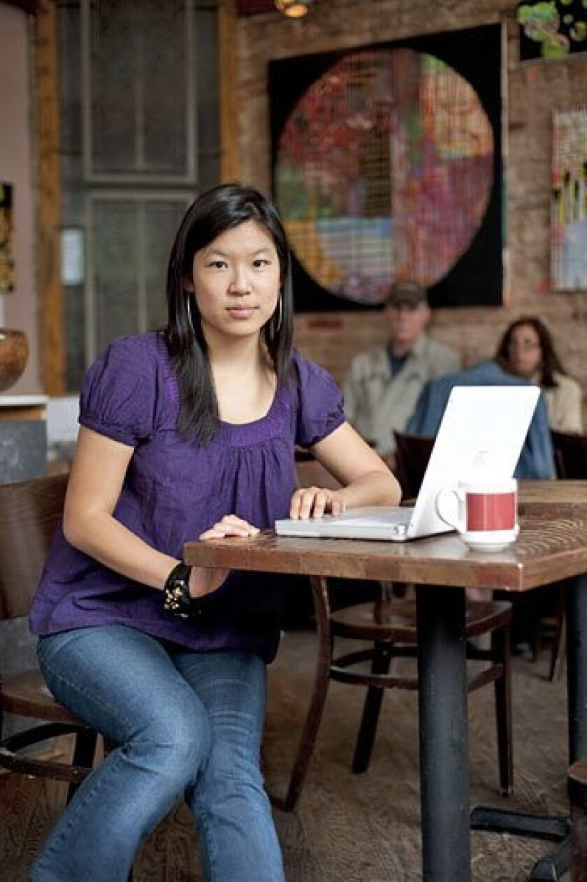 Nancy Sun's original blogging success overwhelmed her, and not in a good  way.  (Evan Sung / New York Times)