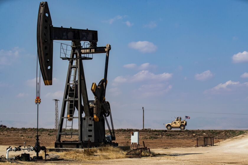 An oil field in Syria