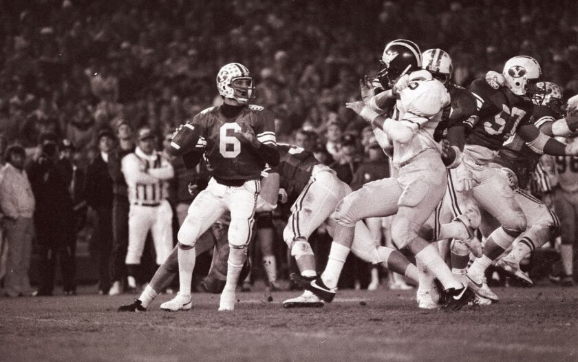 BYU's 1984 Holiday Bowl win over Michigan for national title ...