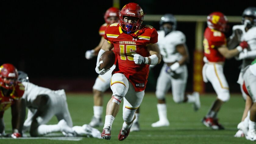 Cathedral Catholic's Shawn Poma rushed for 246 yards on 27 carries and touchdown runs of 33 and 80 yards in the Dons' win over Narbonne.