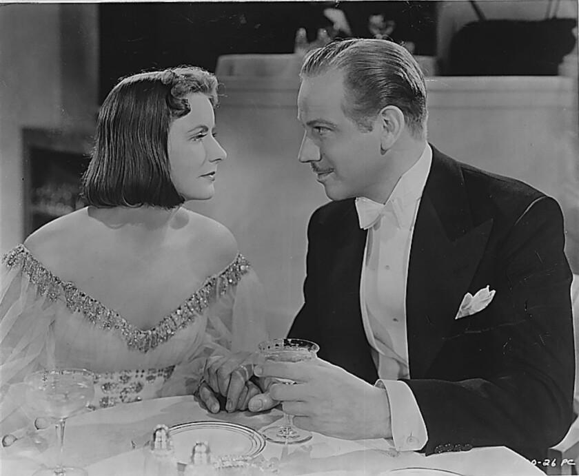 "Greta Garbo and Melvyn Douglas in ""Ninotchka."""
