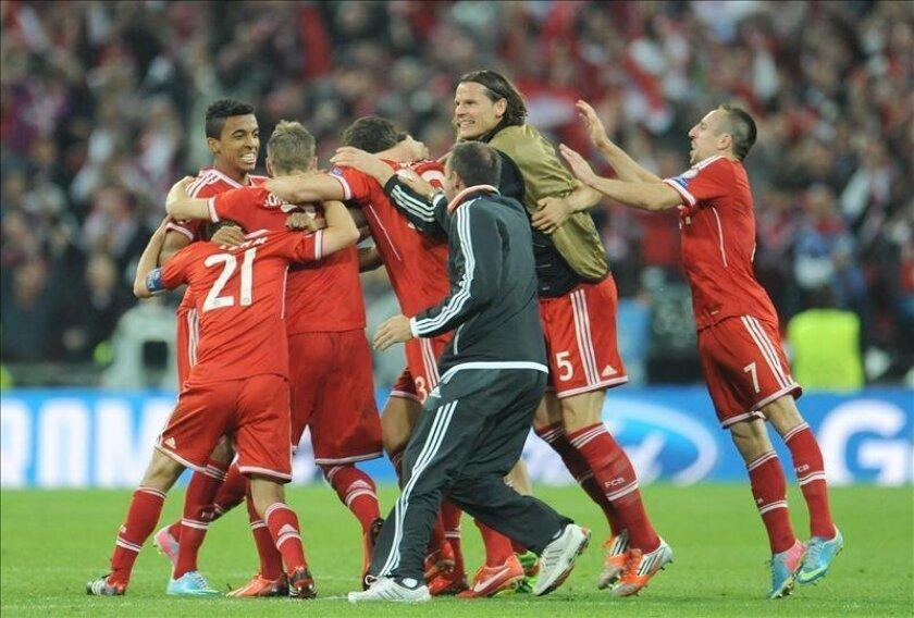 Los jugadores del Bayern de Munich celebran su triunfo en la final de la Liga de Campeones el pasado sábado. EFE