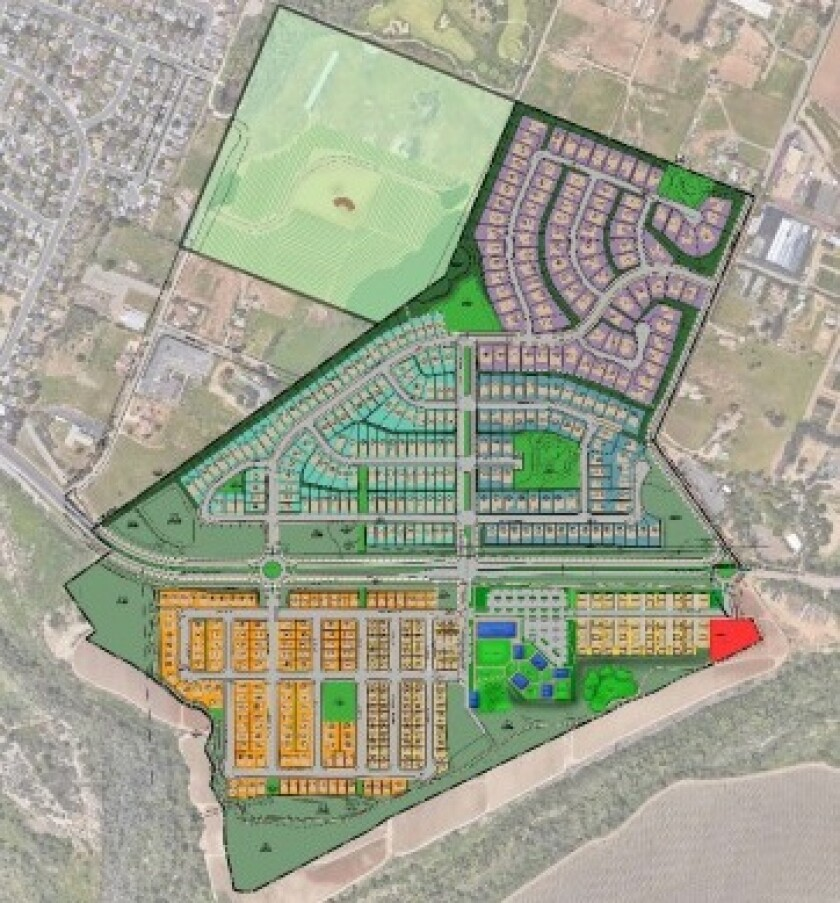 A map of the homes proposed for North River Farms in South Morro Hills.