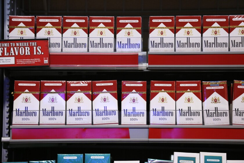 Marlboro cigarettes. Altria sells Marlboro cigarettes in the U.S., while Philip Morris handles the brand internationally. Both companies have also gotten into vaping.