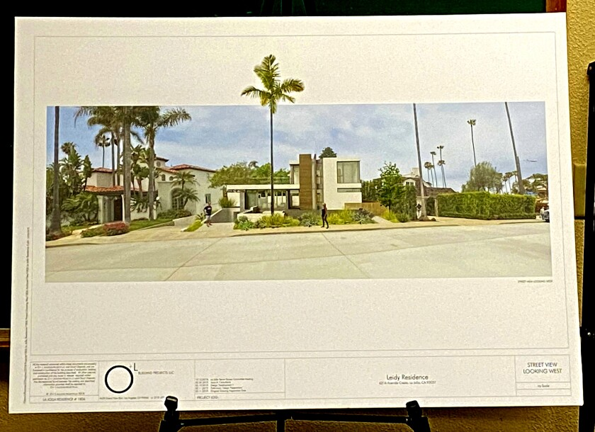 Artist's rendering of the home proposed for 6216 Avenida Cresta