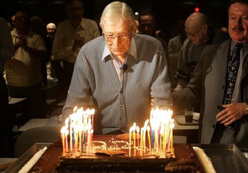 99 Candles 99 Facts About John Wooden Los Angeles Times
