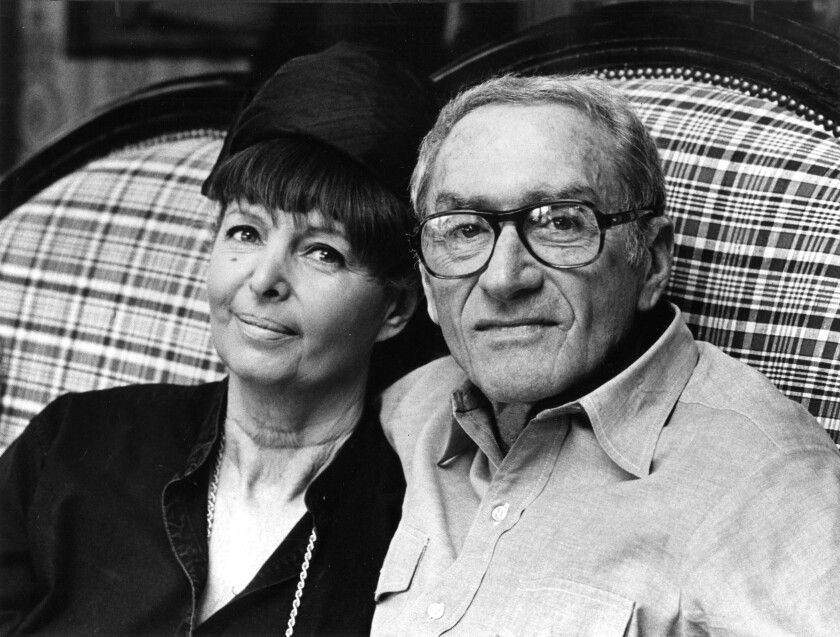 Harriet Frank Jr. with her husband, Irving Ravetch