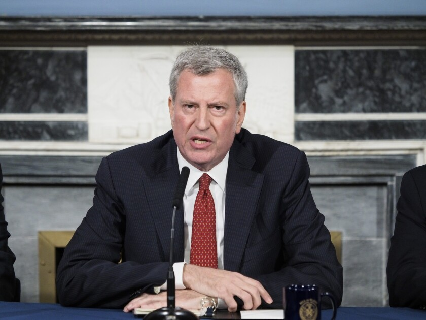 "Mayor de Blasio vowed a ""Vision Zero approach"" to lead-paint problems in NYCHA apartments."