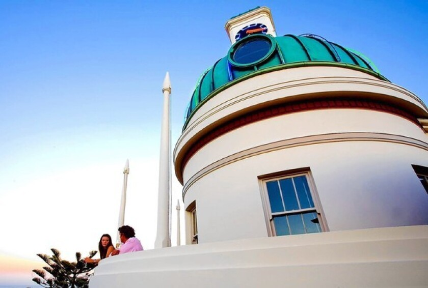 The Dome, with its rooftop terrace, is in the T&G building, an iconic Art Deco structure dating to 1937 on the Marine Parade in Napier, New Zealand.