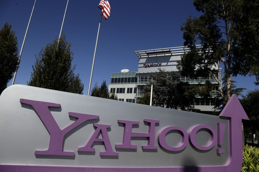 Yahoo's headquarters are seen in Sunnyvale, Calif., on Oct. 17, 2012.
