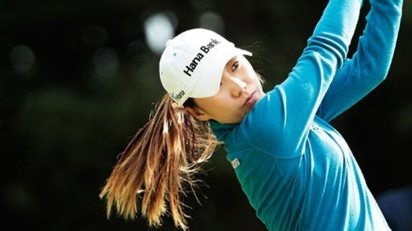 Rancho Santa Fe resident I.K. Kim plays at the 2012 Mizuno Classic in Japan.