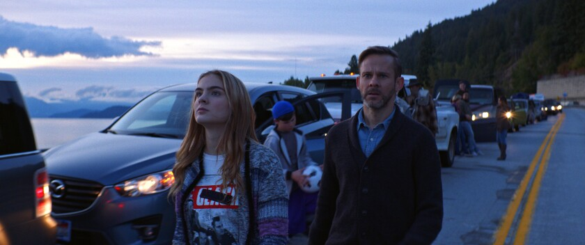 "Brighton Sharbino and Dominic Monaghan in ""Radioflash."""