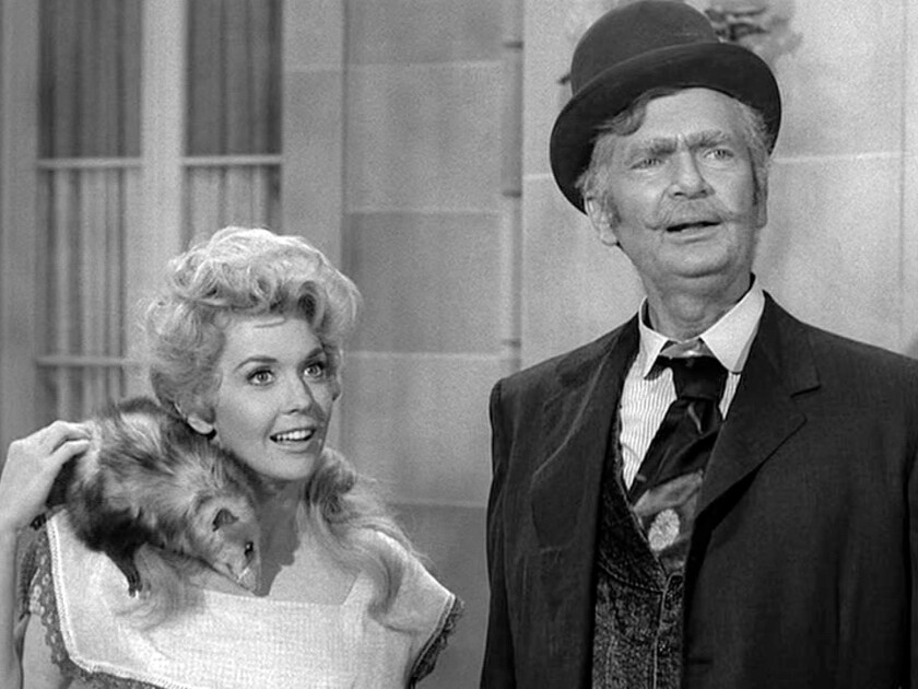 """Donna Douglas  and Buddy Ebsen in """"The Beverly Hillbillies"""""""