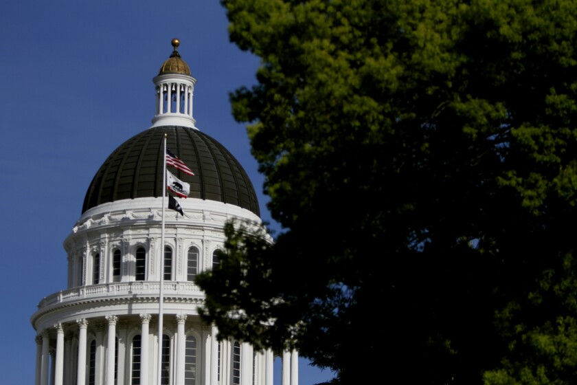 The California State Capitol in Sacramento. An Orange County lawyer has proposed an initiative calling for the killing of gay people.
