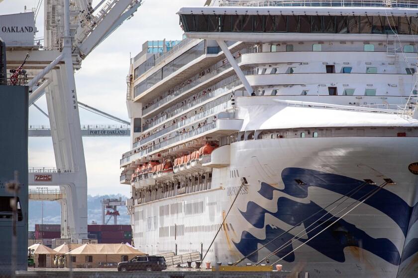 Grand Princess cruise ship at the Port of Oakland