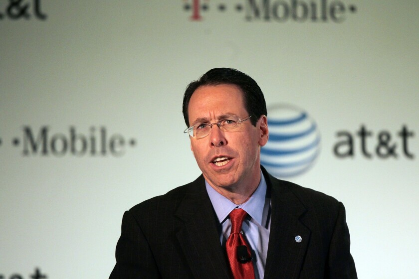 AT&T Chief Executive Randall Stephenson, who serves as chairman of the Business Roundtable trade association.