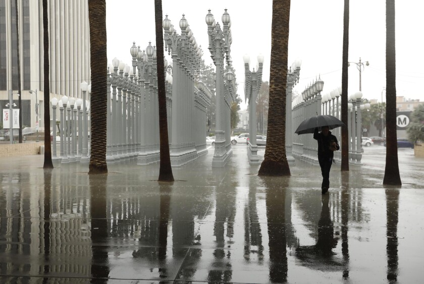 rain in los angeles