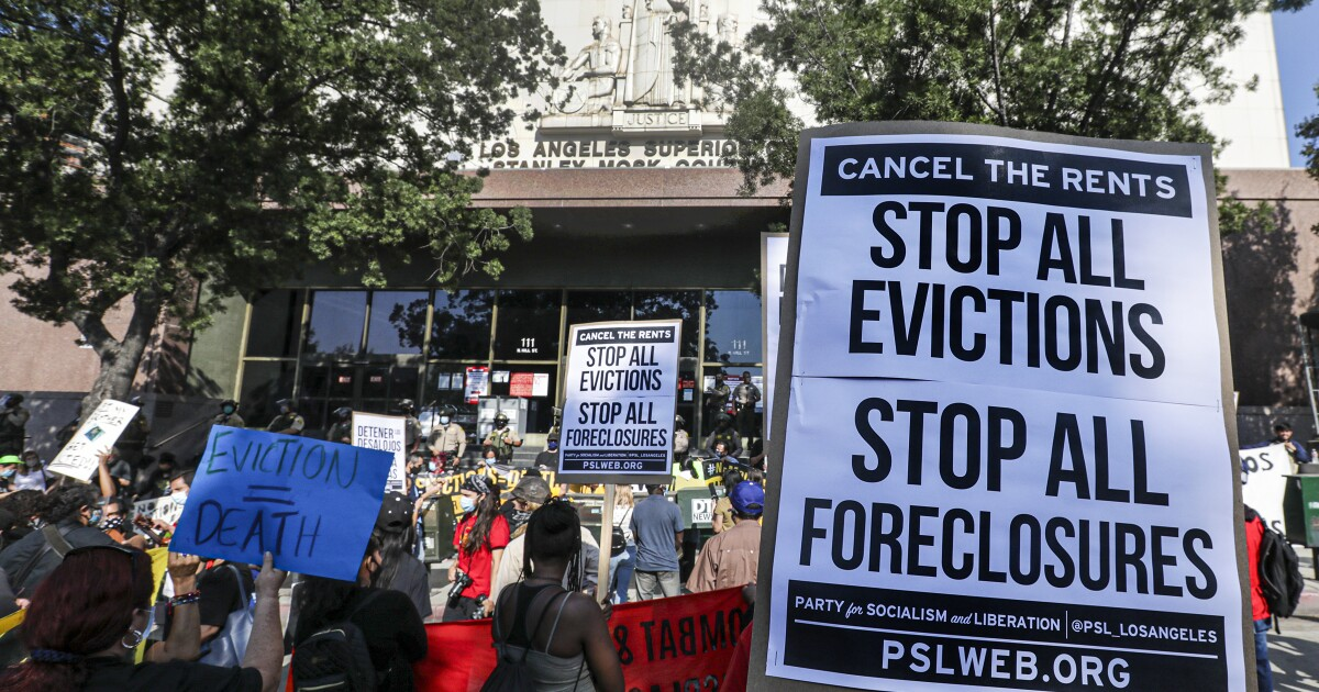 Letters to the Editor: Some landlords are determined to evict. This is how Newsom can help renters