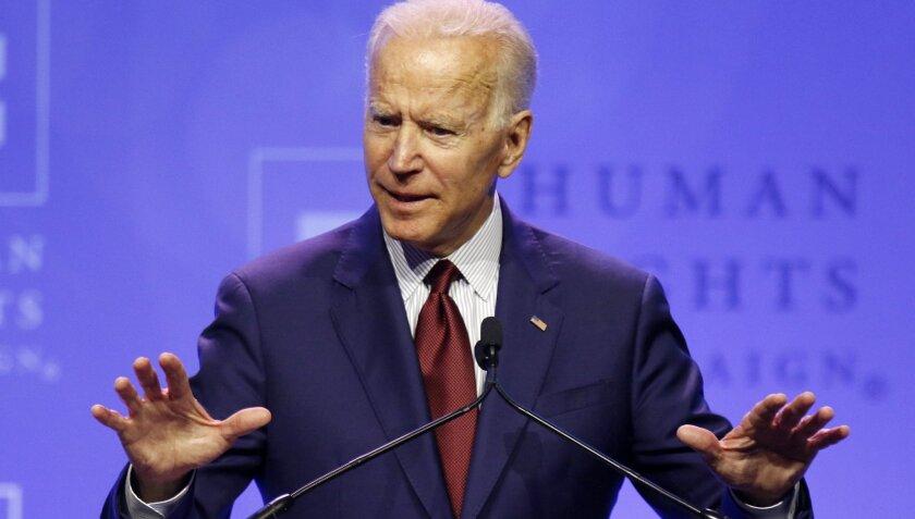 El candidato demócrata Joe Biden.