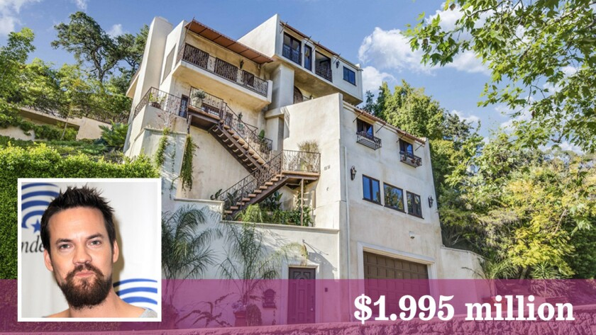"""""""Salem"""" star Shane West has listed his Hollywood Hills house for sale at $1.995 million."""