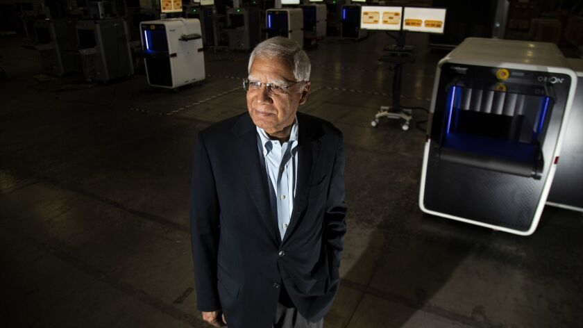 TORRANCE, CA - MAY 31, 2019: OSI Systems CEO Deepak Chopra also runs Rapiscan, a Torrance based comp