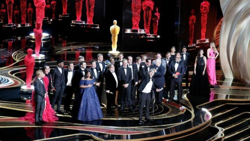"""With director Peter Farrelly out front, """"Green Book"""" celebrates a best picture victory at the 91st Academy Awards."""