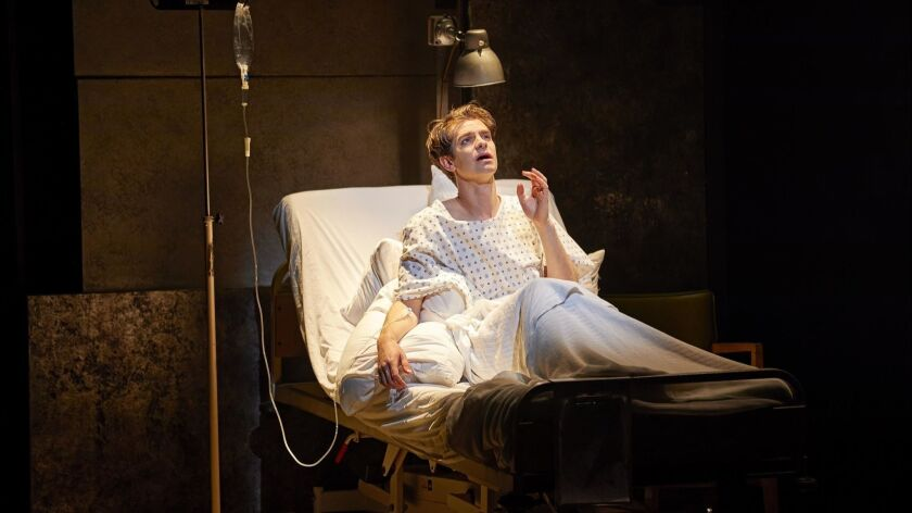 Andrew Garfield in National Theatre's Broadway production of Tony Kushner's epic and seminal maste