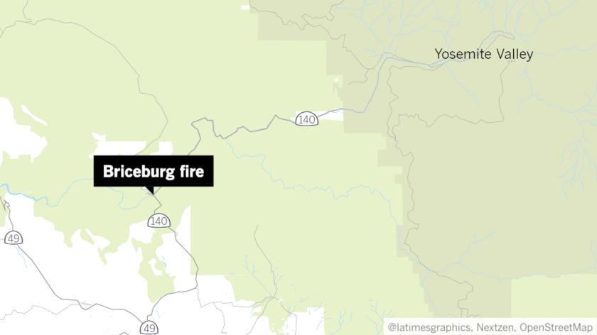 Briceburg fire map