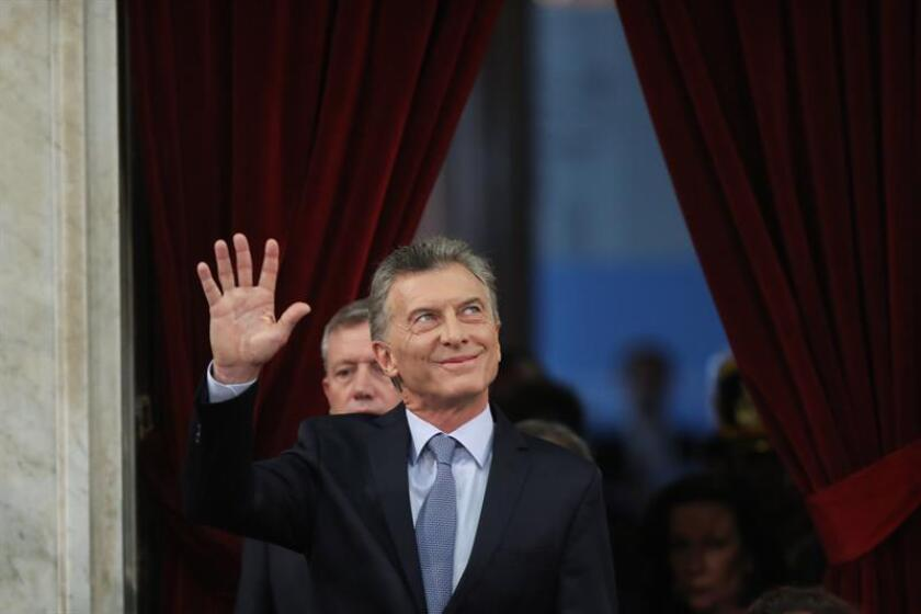 Argentine President Mauricio Macri arrives at the Argentine Congress on March 1, 2019, where he announced an end to impunity in his country and that, if the judiciary so requires, all citizens including the head of state and his family must give an accounting of their finances. EFE-EPA/Juan Ignacio Roncoroni