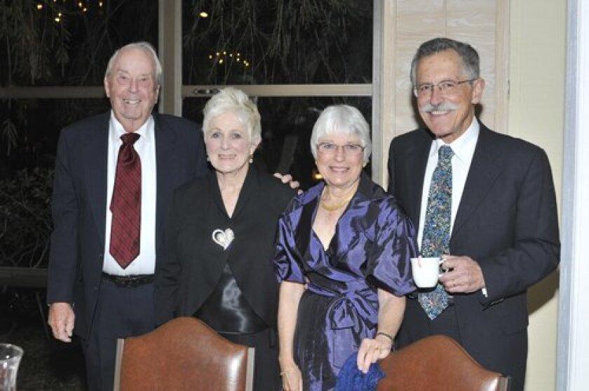 Ed and Barbara Pearson, Sandy and Art Yayanos