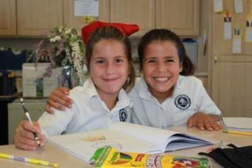 These fourth-grade girls are having fun learning and drawing at All Hallows Academy, 2390 Nautilus St., La Jolla. (858) 459-6074. allhallowsacademy.com