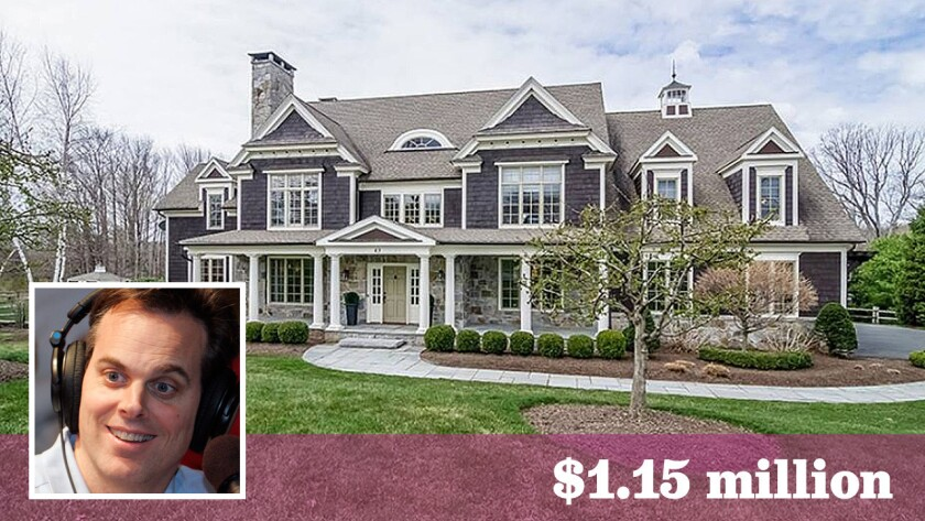 Radio and television personality Colin Cowherd has sold his 6,100-square-foot home in West Hartford, Conn., for $1.15 million -- $190,000 less than what he paid for the property in 2010.