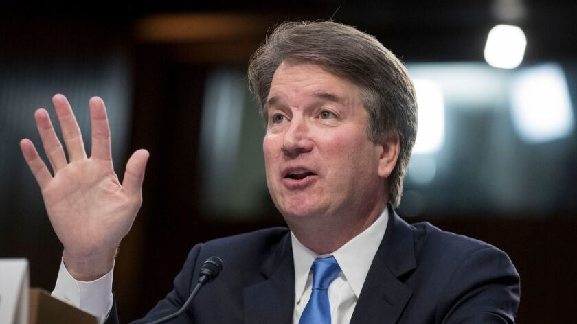 Brett Kavanaugh during his confirmation hearing to the Supreme Court in Washington on September 5.