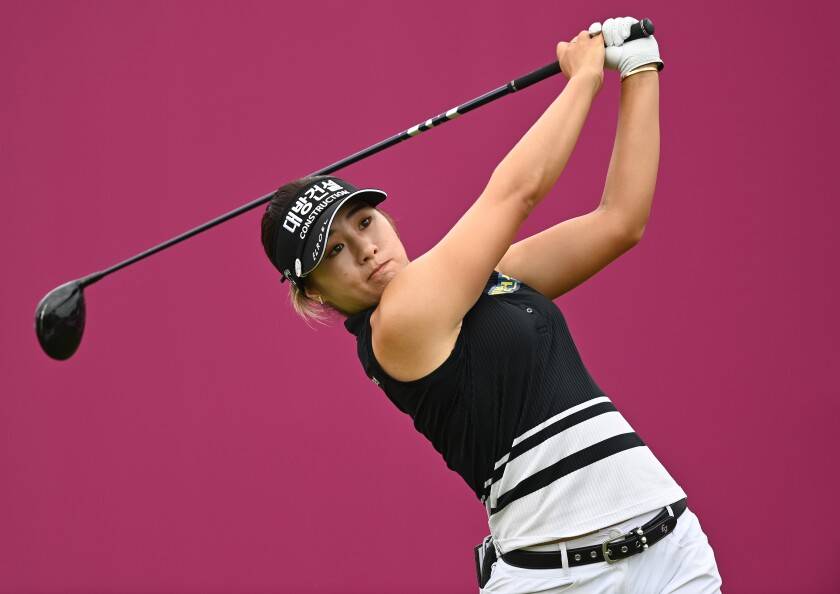 Jeongeun Lee6 shot a three-under 68 in the third round of the Evian Championship in France.