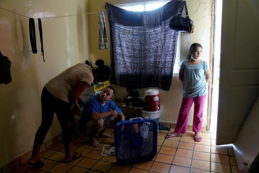 Migrants living in Mexicali, Mexico