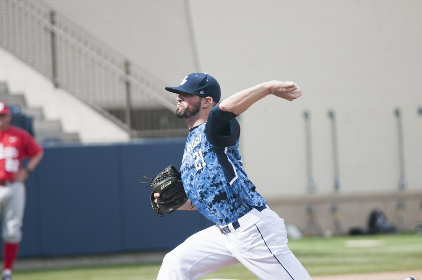 USD's Louie Lechich is 5-1 with a 2.47 ERA.