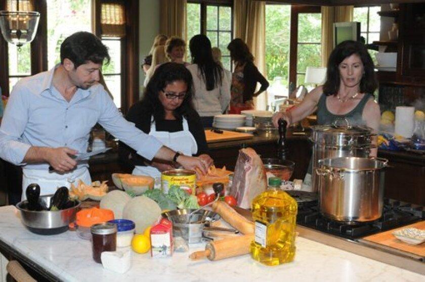 The chefs made lunch for more than twenty: Dr. Annese, Anne Marie Beppler, Nancy Jo Cappetta
