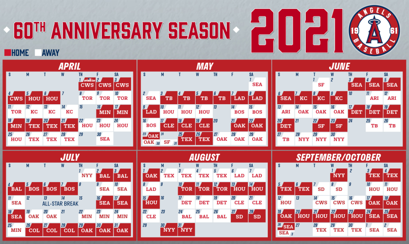 angels unveil their schedule for 2021 mlb regular season los angeles times schedule for 2021 mlb regular season