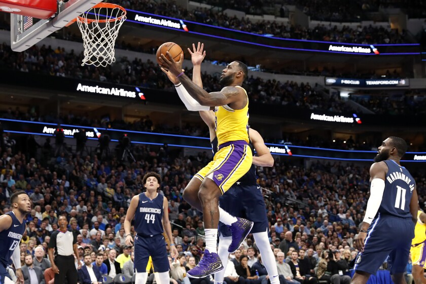 Lebron James Triple Double Helps Lakers Outlast Mavericks