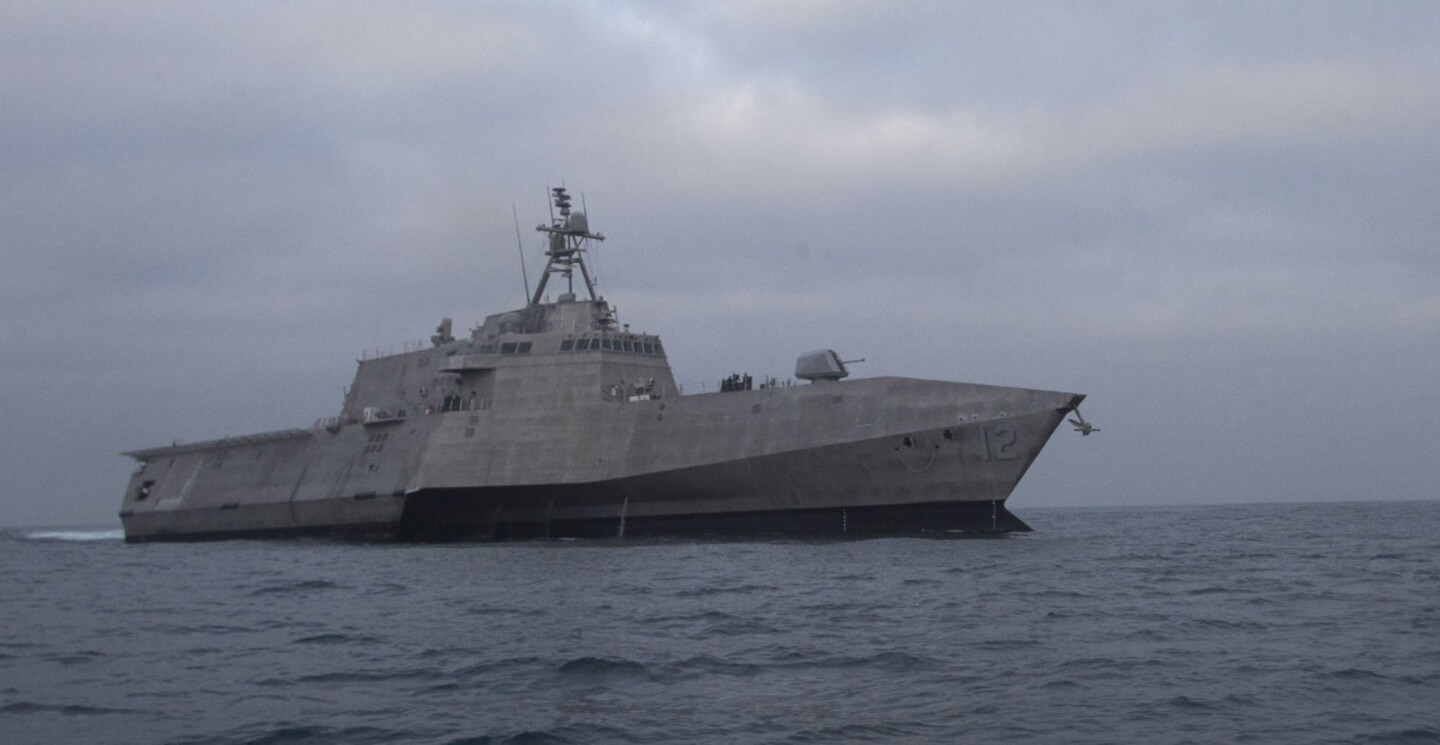 The littoral combat ship Omaha made its way towards San Diego by as it arrived in San Diego, it's new home, Friday January 19th.