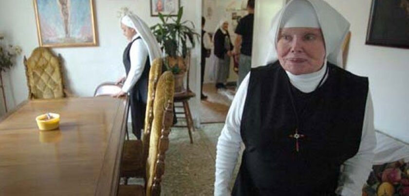 Mother Antonia Brenner walked through the home of her congregation in Tijuana in May of 2007. David Maung/SanDiegoRed.com
